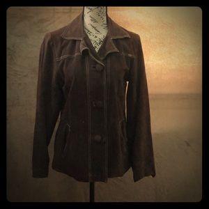 Vintage Quiksilver Roxy 100% Suede Leather jacket